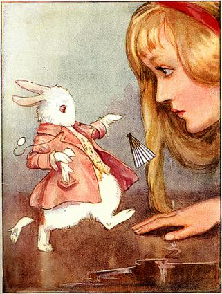 Alice with the White Rabbit