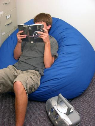 Bean bag reading.