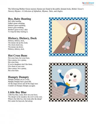mother goose printable
