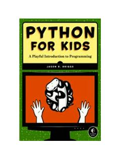 Python for Kids book