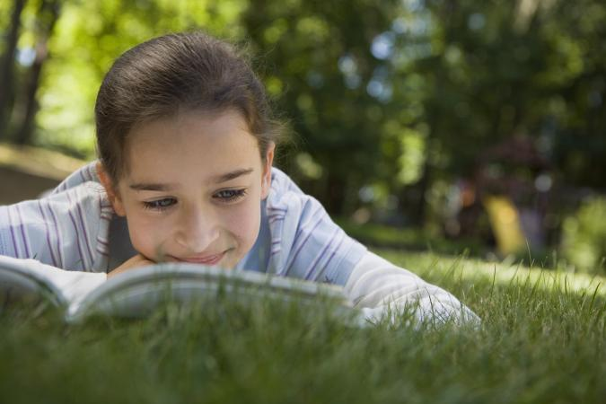 girl reading printable ebook
