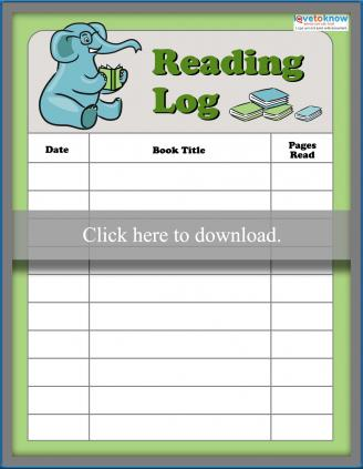 Elephant reading log