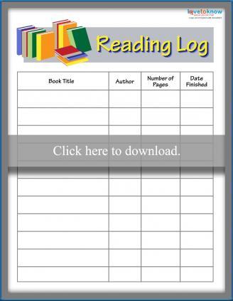 photograph relating to Printable Reading Logs identified as Printable Examining Logs LoveToKnow
