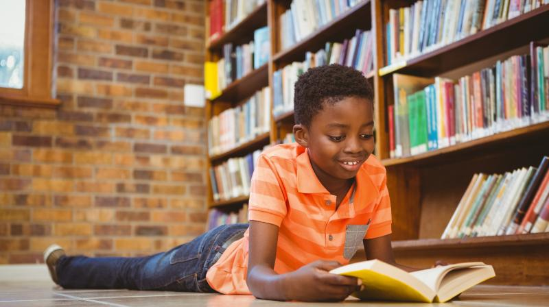 First grader reading chapter book