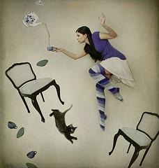 Alice in Wonderland type photo collage