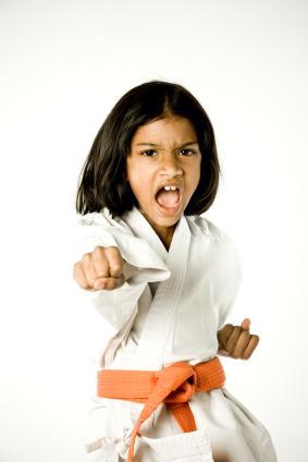 Girl Doing Karate