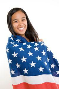 Types of Girls' Clothing with American Flags
