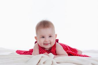 Red Cotton Baby Dress