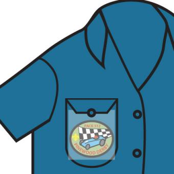 Cub Scout temporary patch placement