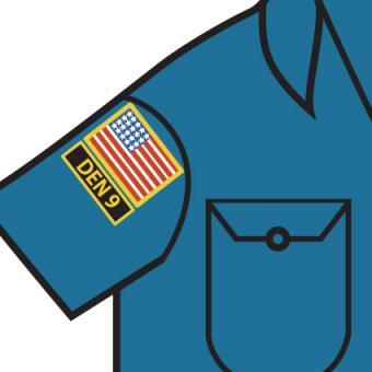 Cub Scout flag patch