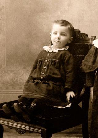 Boy wearing dress