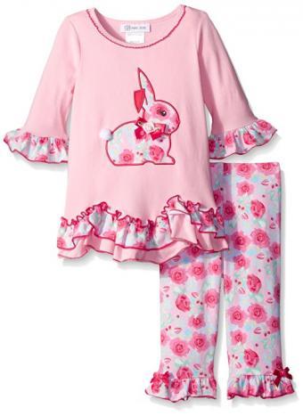 Floral Bunny Appliqued Set at Amazon