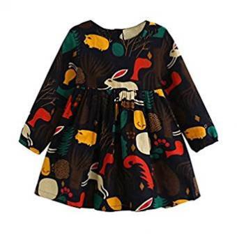 Autumn Forest Animals Dress