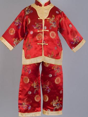 Dragon and Phoenix Mandarin Suit at China Sprout