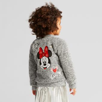 Girls' Minnie Mouse Sherpa Bomber Jacket