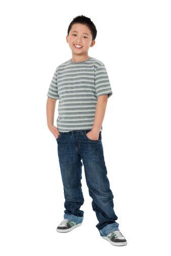 boy in casual school clothes