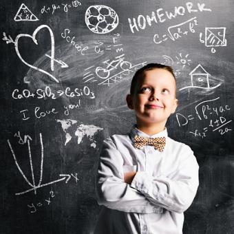 schoolboy wearing oxford shirt
