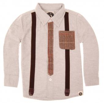 Shatsu Tie Suspenders Long Sleeve Shirt