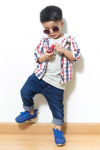 Boy in plaid
