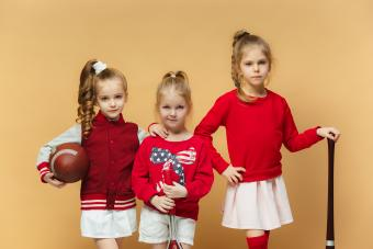girls modeling clothes