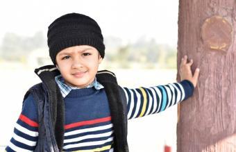 Boy Wearing Warm Clothing