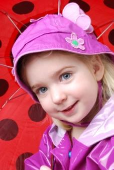 girl in rain coat