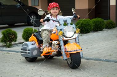 Tiny biker