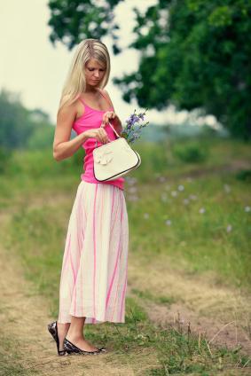Girl in long skirt