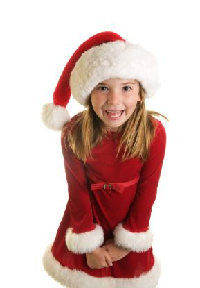red santa dress - Girl Christmas Dresses