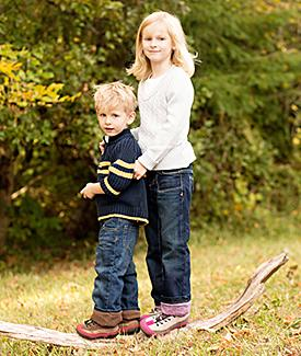 Girls flannel jeans