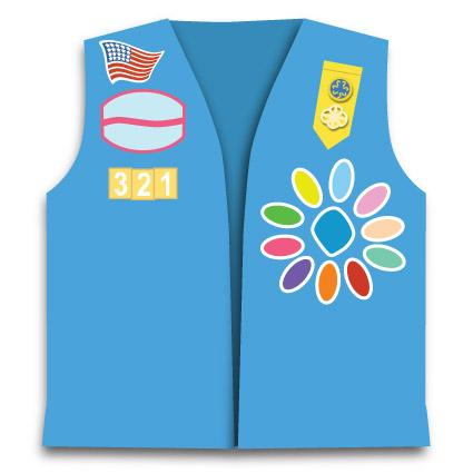 Daisy Scout badge placement image
