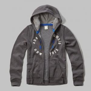 Boy's applique logo graphic hoodie