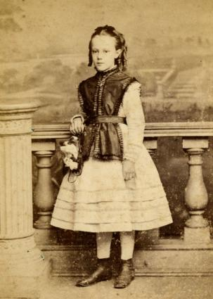 Girl wearing dress