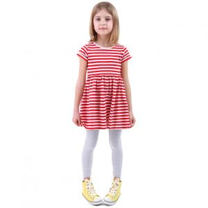 striped tunic with sneakers
