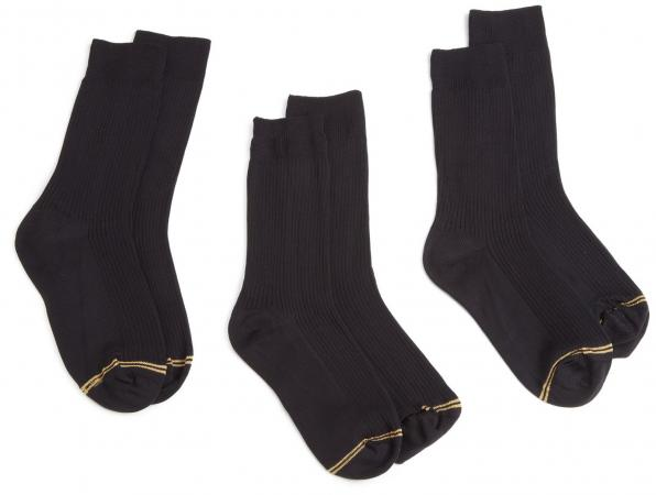 Gold Toe Big Boys' 3 Pack Microfiber Dress Sock