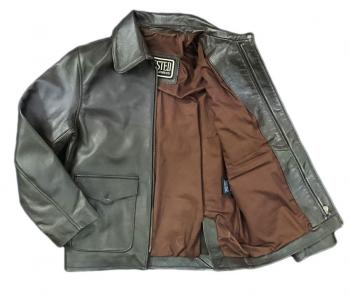Children's 'Junior' Raiders Brown Lambskin Leather Jacket