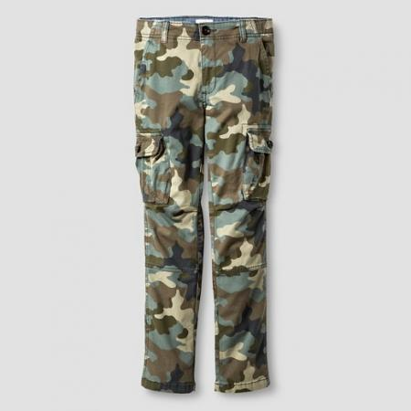 Boys' Slim Fit Stretch Cargo Pants