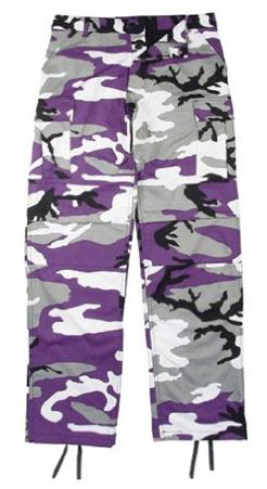 Kids Purple Camouflage BDU Pants