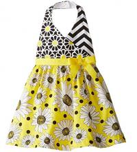 Daisy Print Halter Dress
