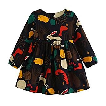 Autumn Forest Animals Dress