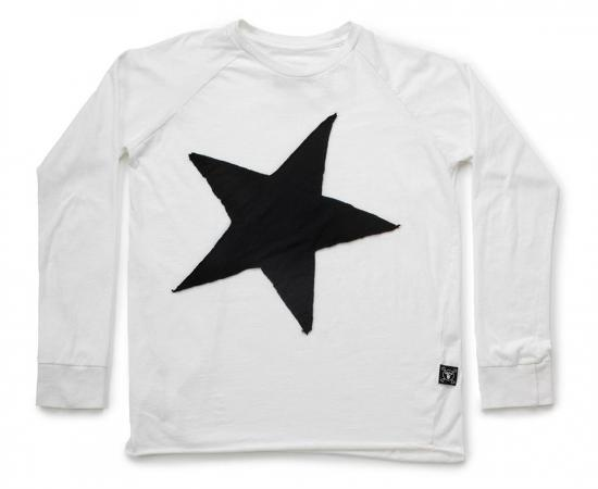 Star Patch Long Sleeve Tee by NUNUNU