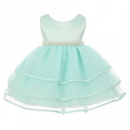 Chic Triple Layer Flower Girl Dress