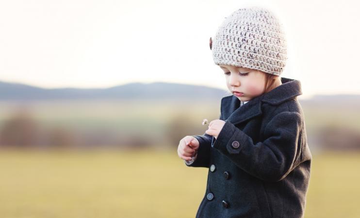 Toddler in pea coat