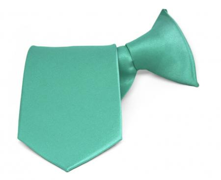 Boys Solid Color Clip-On Tie