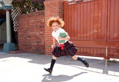 girl wearing school mini skirt