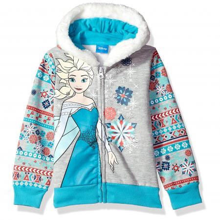 Disney Girls' Elsa Frozen Zip up Hoodie