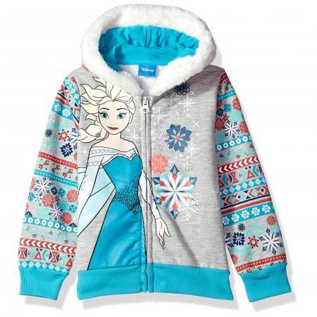 Disney Girls' Elsa Frozen Zip up Hoodie