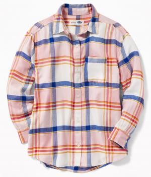 Boyfriend Flannel Tunic for Girls