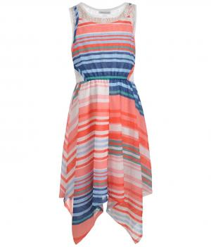 Bonnie Jean Gauzy Stripes Dress