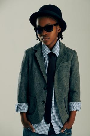 boy dressed in a smart outfit